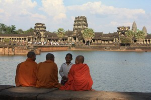 Buddhist Monk at Angkor Wat 1