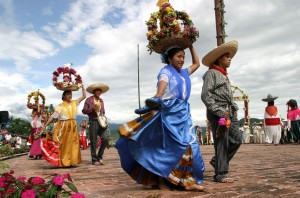 Atlixquences Women and Mexican Charros March